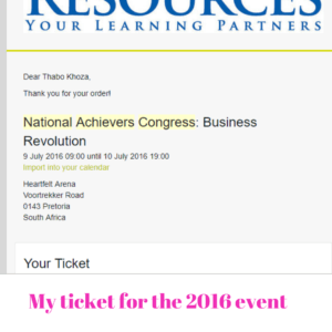 National Achievers Congress review